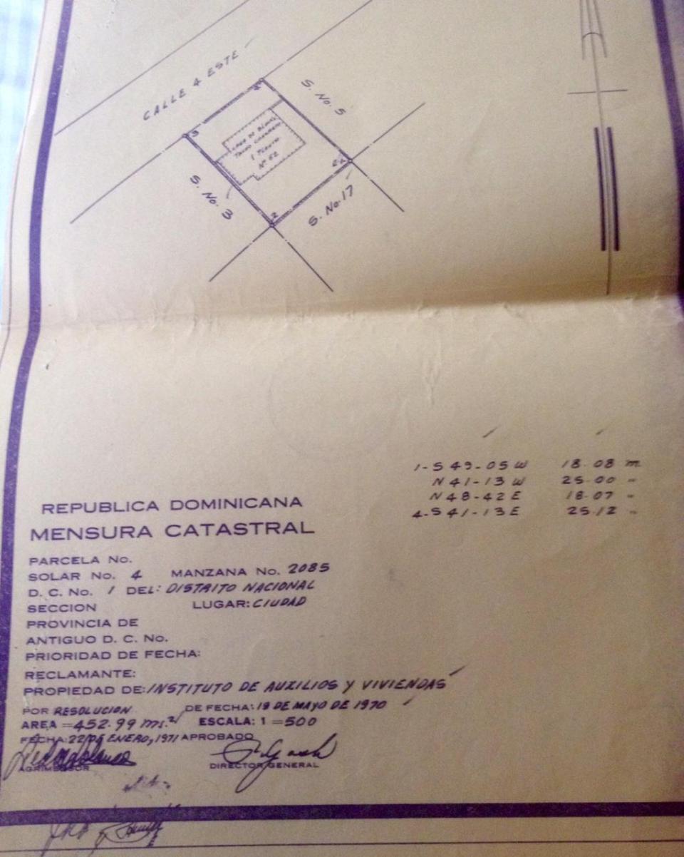 Terreno en venta en el sector ENSANCHE NACO precio US$ 587,600.00 US$587,600
