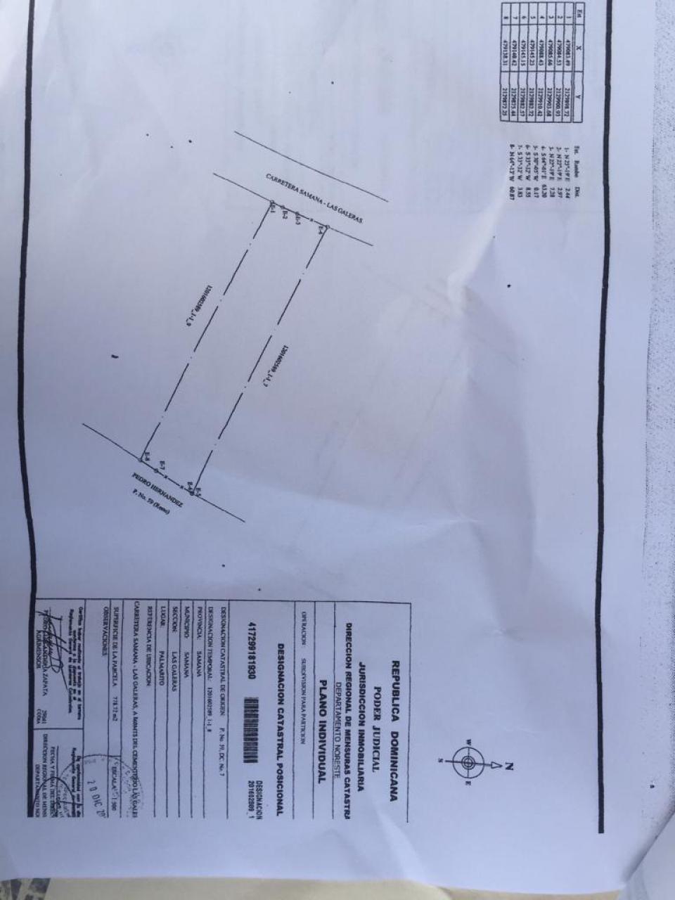 Terreno en venta en el sector SAMANÁ precio US$ 93,411.60 US$93,412